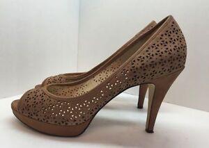Enzo-Angiolini-Womens-Brown-Open-Toe-Heels-Shoe-Size-9-M