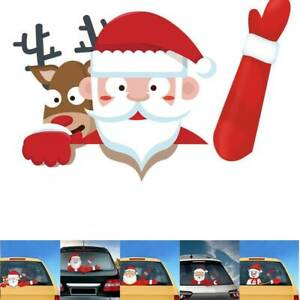 Christmas-Rear-Windshield-Santa-Claus-Window-Decals-Car-Wiper-Sticker-Xmas-2019