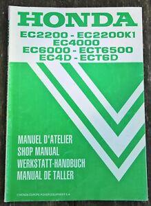 Genuine Honda EC2200 EC2200K1 EC4000 EC6000 ECT6500 EC4D ECT6D Manual 66ZD5F30