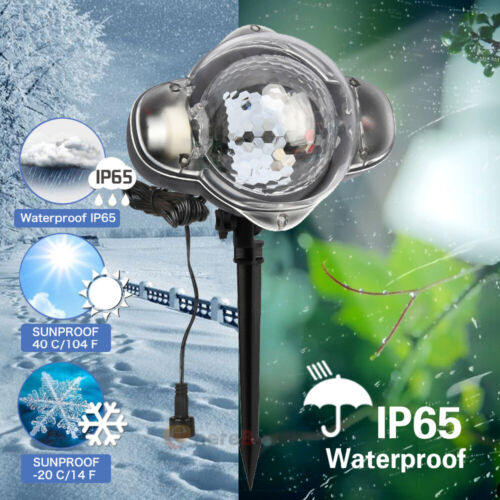 Christmas Star Laser Projector Light Snowflake Outdoor Landscape Lawn Lamp 5Type