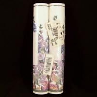 2 Rolls Glynda Turley Floral Wallpaper Border Nip Hollyhock Rose 10 Yards