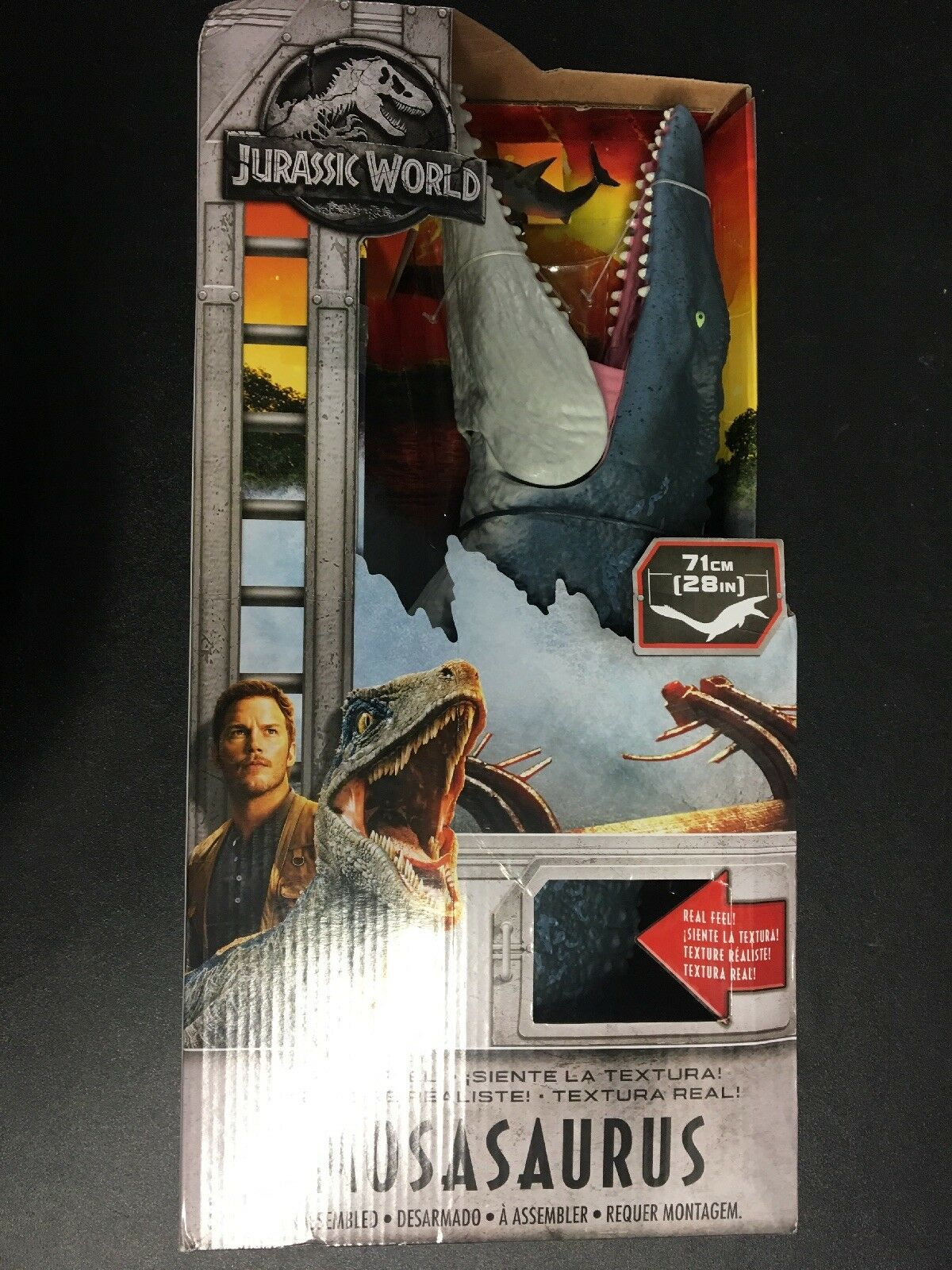 "Jurassic World Real Feel Mosasaurus 28"" Long- NEW"