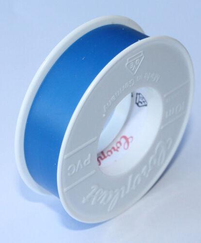 Isoband Coroplast Isolierband VDE Elektriker Klebeband 15mm x 10 meter Blau