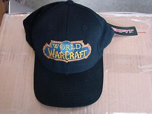 Genuine World of Warcraft Black Ball Cap Hat Small to Medium size ... e99c3f130bfc