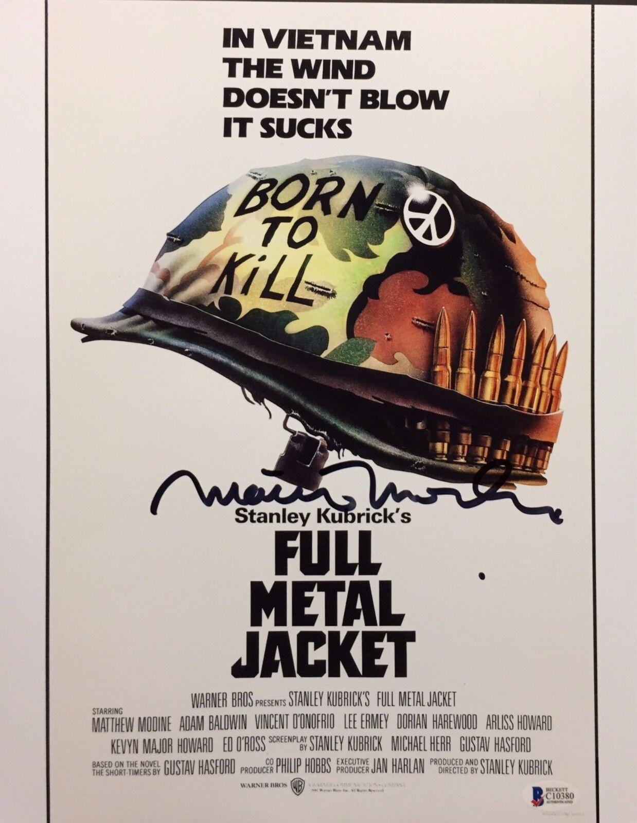 Matthew Modine Signed Full Metal Jacket 11x14 Photo *Pvt Joker Beckett C10380