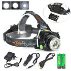 Zoomable 10000LM XML T6 LED Rechargeable Headlamp 18650/AA 3Mode Headlight Torch