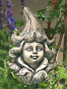 Blumenkind-Elfe-Stechapfel-Kopf-Resin-Gartenfigur-Gartendeko-NEU