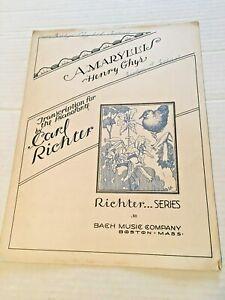 Pratique Vintage Sheet Music Amaryllis Henry Ghyrs 1936-afficher Le Titre D'origine Produire Un Effet Vers Une Vision Claire