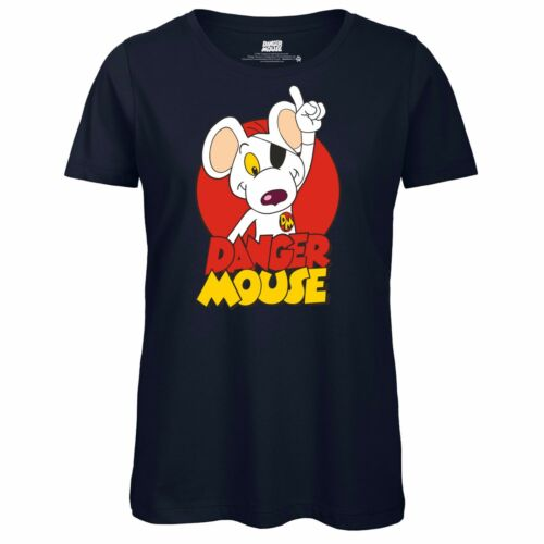 Officially Licensed Top Retro Cartoon Danger Mouse® Character Ladies T-Shirt