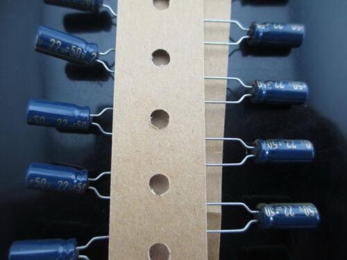 20pcs Panasonic FC 22uF 50V 22mfd 5X11mm lelectrolytic capacitor 105℃