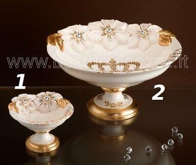 Oggetti Via Veneto.Tabletop Small And Large Ceramic Ivory Gold Leaf Crystals Via Veneto Ebay
