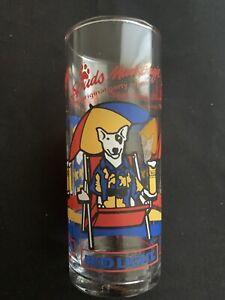 Vintage 1987 Bud Light Spuds Mackenzie Party Animal Beer Glass Budweiser