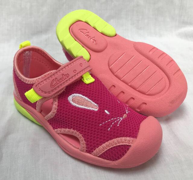 843daa5f8 BNIB Clarks Doodles Girls Beach Molly Pink Combi Synthetic First Beach  Sandals
