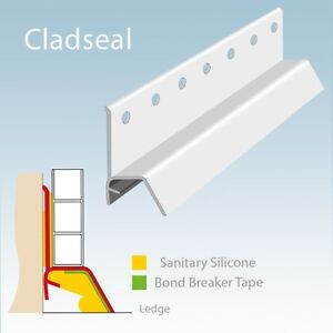 Cladseal Base Seal Trim Sealing Kit for Shower Tray/Bath ...