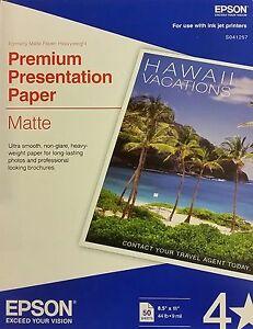 Epson Premium Presentation Paper Matte 50 Sheets 8 5