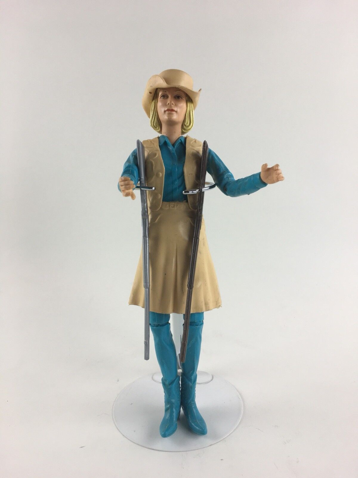 Vintage 1960's Marx Toys Jane West Action Figure Cowgirl Doll 11  w  accessories