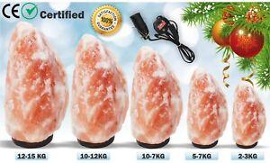 HIMALAYAN-Pink-Salt-Lamp-NATURAL-Rock-SALT-LAMPS-With-Plug-amp-Bulb-Different-Siz