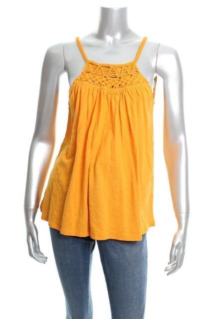 493b040d6d394 Cable   Gauge XL Yellow Braided Sleeveless Cotton Halter Top 2161 ...