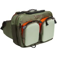 Allen Fox River Fly Fishing Wading Chest Fanny Waist Pack Green / Orange - NEW!