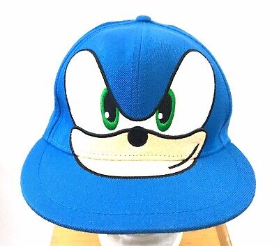 Sonic The Hedgehog Hat Sega Nintendo Baseball Cap Stretch Sm Blue Wool Blend Euc Ebay