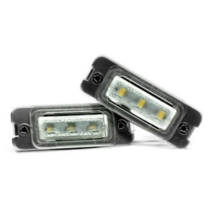 2-X-LED-Eclairage-pour-Plaque-D-039-Immatriculation-Mercedes-Benz-Lumieres
