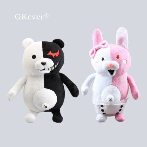 2X Game Danganronpa Monokuma Bear Monomi Rabiit Plush Stuffed Doll Kids Toy Gift