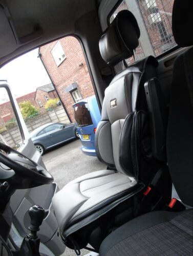 TO FIT A VAUXHALL VIVARO VAN 2012 YS01  GREY // BLACK DRIVERS SEAT COVER