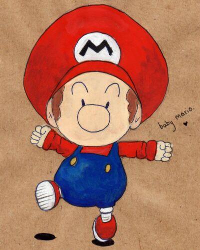 Super Baby Mario Frère Autocollant Vinyle Autocollant Pour Ordinateur Portable Tablette Macbook decor