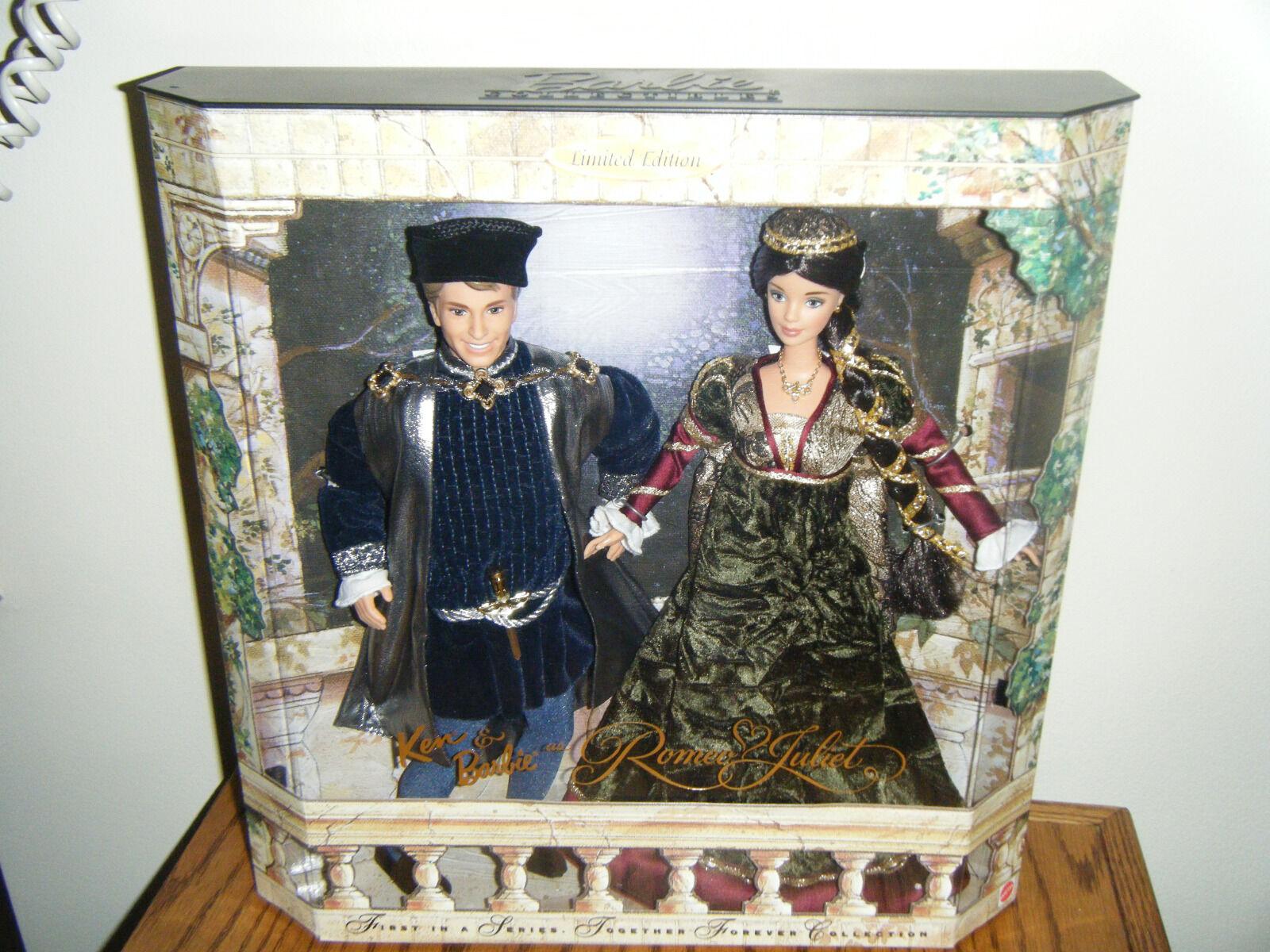 1997 Shakespeare's Romeo & Juliet (Ken & Barbie) Conjunto de Regalo-mnrfb