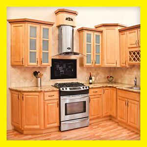 All wood kitchen cabinets 10x10 rta richmond - Richmond All Wood Kitchen Cabinets Honey Stained Maple