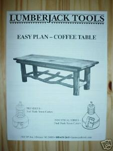 Log Furniture Plans Coffee Table Use Your Tenon Cutter Ebay