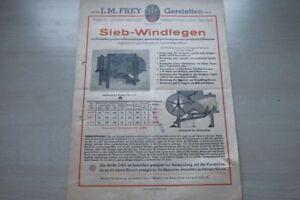 Sanft 197135 Prospekt 195? Sieb-windfegen J.m Frey