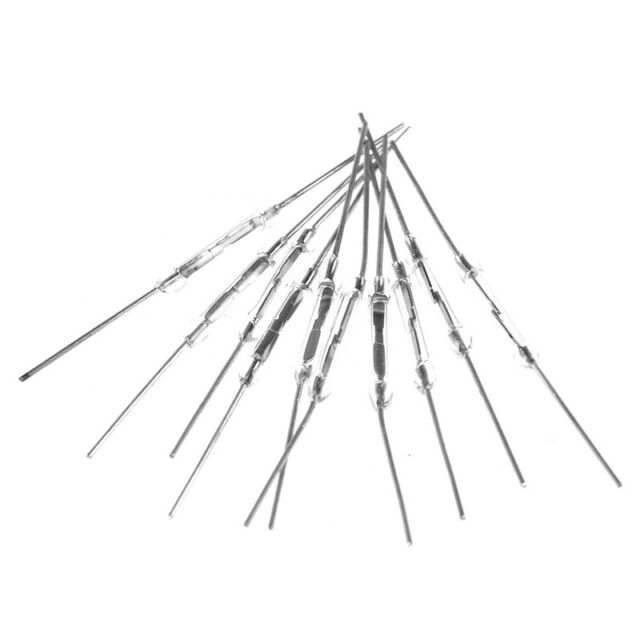 10Pcs 14mm Glass Magnetic Induction Reed Switch MagSwitch Normally Open NO SP