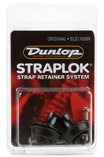 *NEW* SLS1103BK DUNLOP® ORIGINAL STRAP LOCKS GUITAR /& BASS STRAPLOCK BLACK