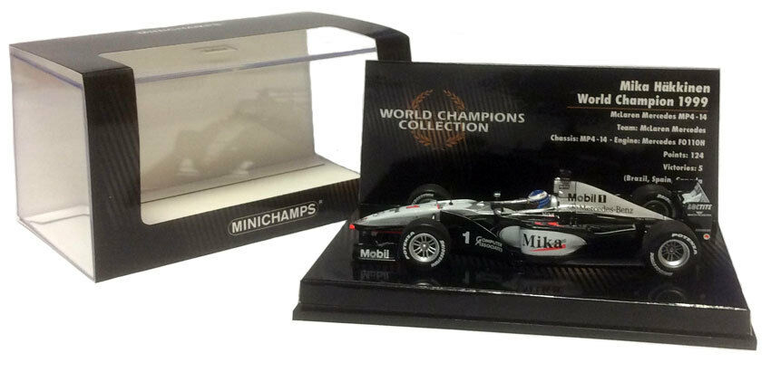 Minichamps McLaren MP4 14 1999 - Mika Hakkinen F1. World Champion 1 43 Scale