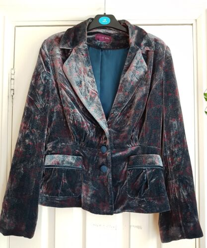12 Floral Jacket Blue Velvet Pink Silke August xwYqB6f6