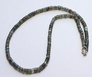 Labradorite Collier de Pierres Précieuses à Facettes Blau-Schimmer Cadeau 46 CM