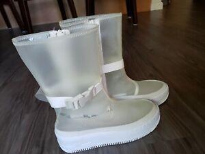 AF1 Sage HI LX Rain Boots Clear White