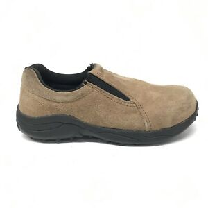 Brazos-Mesa-Brown-Suede-Leather-Steel-Toe-Work-Shoes-Women-039-s-Size-6-5