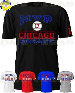ee3fedded Image is loading Chicago-Cubs-Kris-Bryant-MVP-Jersey-Tee-Shirt-
