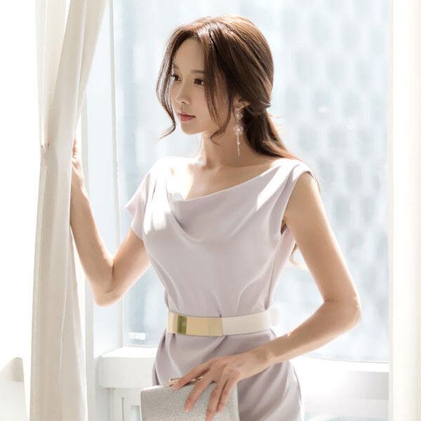 Élégant dress gown short sheath dress dress dress purplec light event long slim soft 4399 0b734f