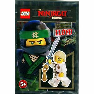 LEGO-NINJAGO-Lloyd-Foil-Set-Minifigure-White-Wu-Cru-Training-Gi-Polybag-New
