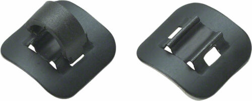 Box of 4 Jagwire Alloy Stick-On Guides with C-Clips Black