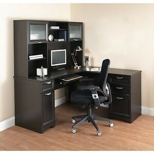 Gentil Image Is Loading NEW L Shaped Office DESK With HUTCH Computer