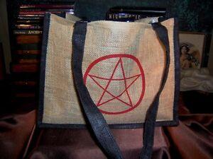 Red-Pentacle-Jute-Tote-Bag-Pentagram-Wicca-CTH21