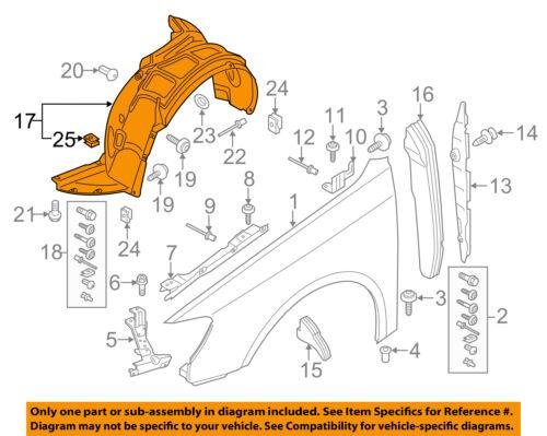 AUDI OEM 15-16 A3 Quattro-Front Fender Liner Splash Shield Right 8V5821172B