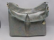 Brahmin Bristol Hobo Opal Shimmer Snake Embossed Leather Shoulder Bag New NWT