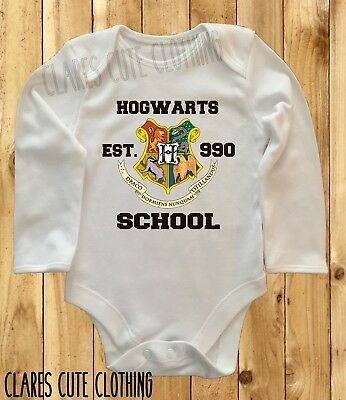 HARRY POTTER RAVENCLAW TIE HOGWARTS baby vest//grow//romper  all sizes available