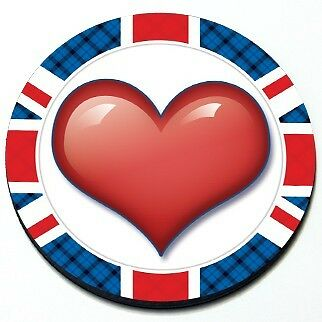 Heart - MINI Cooper Valentine's Day Union Jack Seasonal Magnet Grill Badge