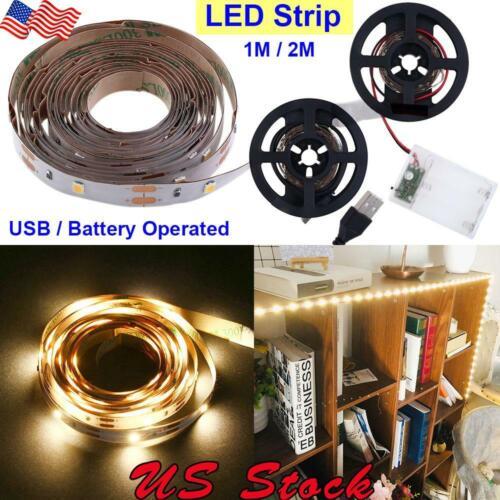 Battery Operated LED strip 30LEDs//M Flexible Light 1M-2M Cabinet Light LED USB